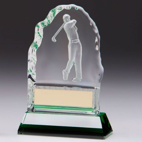 Challenger Golf Ball Crystal Award 130mm